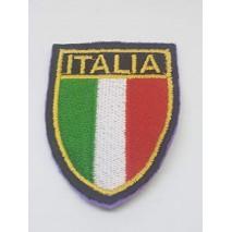 La Ruotante 1 Patch Bandiera Italiana. da Cucire. Ricamato Interamente.