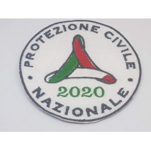 1 Patch Protezione Civile Nazionale 2020. da Cucire. Ricamato in Panno Bianco.