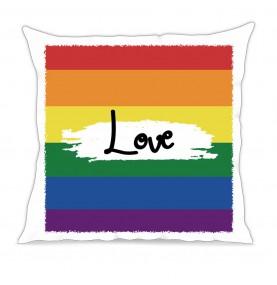 Cuscino love pride bandiera...