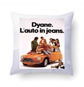 Cuscino federa a tema Dyane...